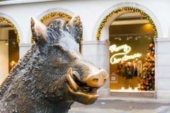 Porcellino-sculptur in München stockfotos