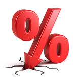 Porcentagem de disconto Imagens de Stock Royalty Free