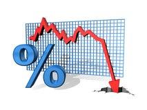 Porcentagem para baixo ilustração do vetor