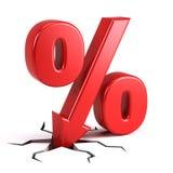 Porcentaje de descuento Imágenes de archivo libres de regalías