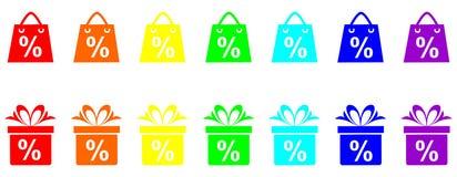 Porcentaje de descuento Fotografía de archivo libre de regalías