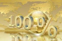 Porcentaje de oro Imagen de archivo libre de regalías