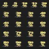 Porcentaje de oro Fotos de archivo libres de regalías