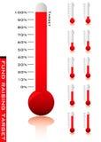 Porcentaje del termómetro Foto de archivo libre de regalías