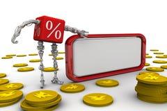 Porcentaje rentable y moneda china libre illustration