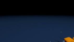 Porcentajes descendentes Foto de archivo libre de regalías