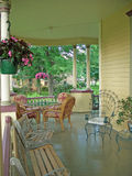 Porch. Victorian house porch in summer stock images