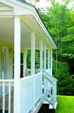 Porch. White new porch, part of the house Stock Images