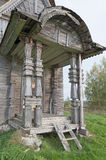 Porch ancient wooden church Stock Photography