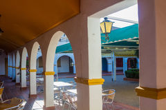 Porch with arches typical Andalusian Royalty Free Stock Images