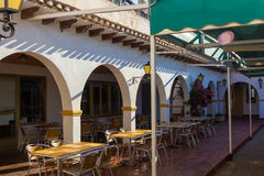 Porch with arches typical Andalusian Royalty Free Stock Photography