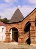 Porch of Assumption Church Krutitsy Patriarchal metochion. On a sunny day Royalty Free Stock Photos