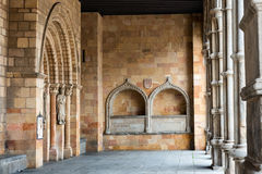 Porch of the Basilica of San Vicente in Avila, Spain Stock Images