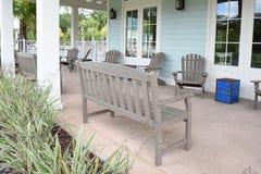Porch bench Stock Photo