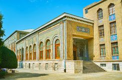 The porch of Brilliance Hall in Golestan, Tehran Stock Photos