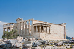 The Porch of the Caryatids. In Athens, Greece royalty free stock photography