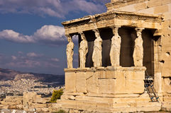 The Porch of the Caryatids. Royalty Free Stock Photography
