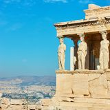 Porch of The Caryatids. The Porch of The Caryatids on The Acropolis in Athens, Greece royalty free stock photo