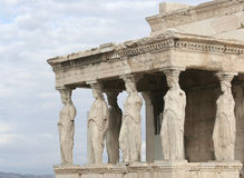 Porch of the Caryatids at Acropolis Royalty Free Stock Image