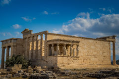 Porch of the Caryatids at the Erechtheion on the Acropolis Athens Greece royalty free stock photos