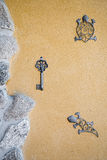 Porch decorated with iron crafts. Royalty Free Stock Photography