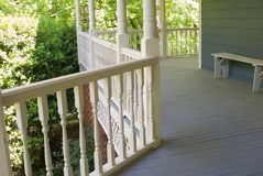 Porch Details/Closeup. A porch on the side of a house, close up, details stock image