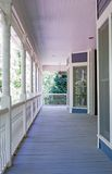 Porch Details/Closeup. A porch on the front of a house, close up, details Stock Photography