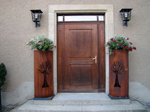 Porch with door Stock Photo