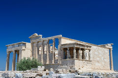 Porch of the Erechtheion wuth caryatids, Acropolis Stock Image