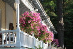 Porch with Flowers Royalty Free Stock Photography