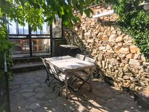 Porch in French Mediterranean style royalty free stock photography