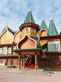 Porch Great Wooden Palace in Kolomenskoe Stock Images