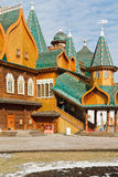 Porch Great Wooden Palace in Kolomenskoe, Moscow Stock Images