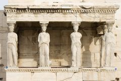 Porch of the Maidens Royalty Free Stock Images