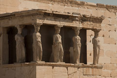 Porch of the Maidens in Athens, Greece Stock Photo