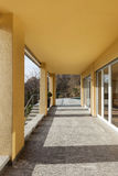 Porch of a modern building. Architecture, porch of a modern building, outdoor royalty free stock photos