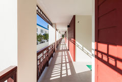 Porch on modern building Royalty Free Stock Images