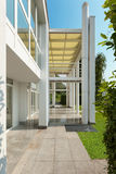 Porch of a modern house Royalty Free Stock Photo