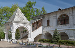 Porch of the old church. The porch of the Church of Our Lady of Kazan in Kolomenskoye, Moscow, Russia Stock Photography