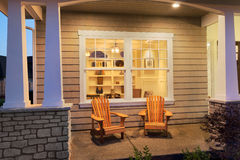 Porch outside New Home Royalty Free Stock Image