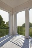 Porch overlooking golf course Royalty Free Stock Photos