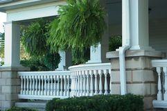 Porch with Railing Royalty Free Stock Photos