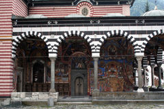 Porch of the Rila Monastery Royalty Free Stock Photography