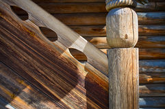 Porch of Russian log house Royalty Free Stock Image