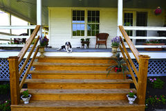 Porch Steps Stock Photo