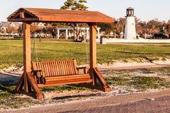 Porch Swing at Buckroe Beach in Hampton, VA Stock Photography