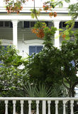 A porch and tropical garden in Key West Stock Photos