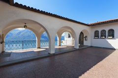 Porch of a villa, outdoors Royalty Free Stock Photography
