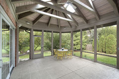 Porch with wood ceiling royalty free stock photo