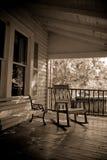 Porche ancien de pays de sépia Photographie stock libre de droits